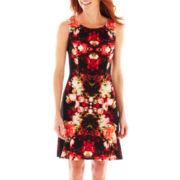 Ronnie Nicole Sleeveless Print Dress – Petite