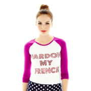L'Amour by Nanette Lepore 3/4-Sleeve Baseball Tee