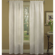 Laura Ashley® Devon Rod-Pocket Embroidered Curtain Panel Pair