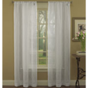 Laura Ashley® Audrey Rod-Pocket Embroidered Sheer Panel Pair