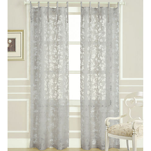 Laura Ashley® Rothbury Tie-Top Sheer Panel Pair