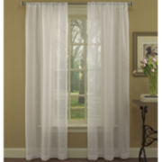 Laura Ashley® Dianne Rod-Pocket Embroidered Sheer Panel Pair