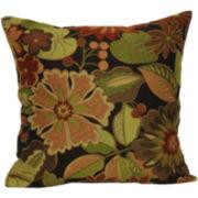 Jacquard Floral Decorative Pillow