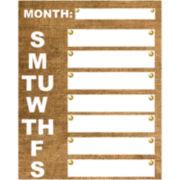 Burlap Weekly Memo Board