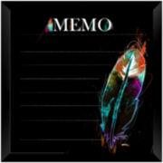 Black Feather Memo Board