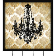 Chandelier Wall Decor with Hooks