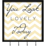 You Look Lovely Wall Decor with Hooks