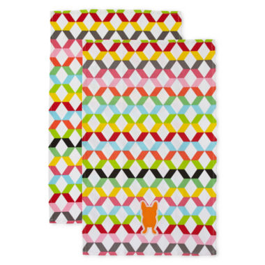 jcpenney.com | Oui by French Bull™ Vee Set of 2 Kitchen Towels