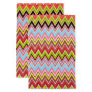 Oui by French Bull™ Vee Set of 2 Reactive Kitchen Towels