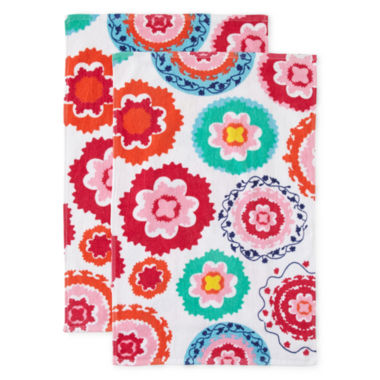 jcpenney.com | Oui by French Bull™ Reactive Set of 2 Kitchen Towels