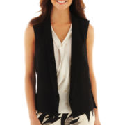 Worthington® Sleeveless Open-Front Vest