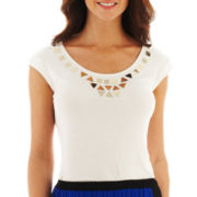 Worthington® Sleeveless Embellished Top - Tall