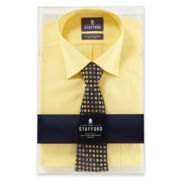 Stafford® Easy-Care Dress Shirt & Tie Boxed Set