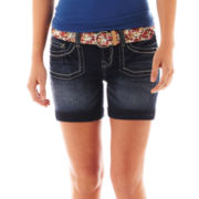 Wallflower Five-Pocket Belted Shorts