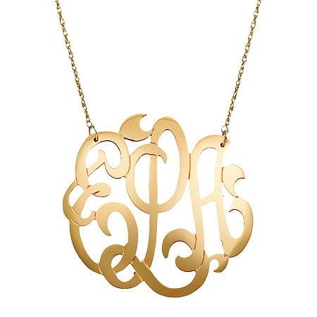 12K Gold-Filled Monogram Necklace