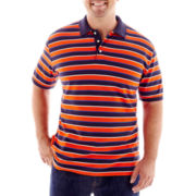The Foundry Supply Co.™ Striped Piqué Polo Shirt–Big & Tall