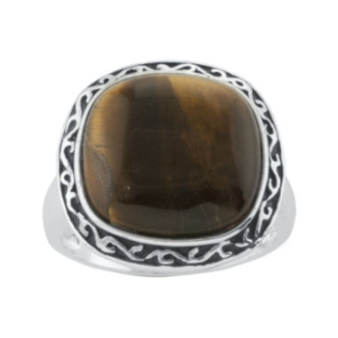 jcpenney.com | Simulated Tiger's Eye Silver-Plated Ring