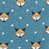 Teal Fox Print