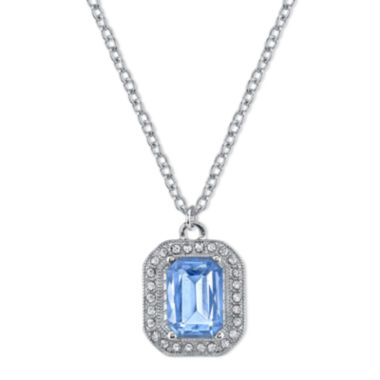 jcpenney.com | 1928® Jewelry Blue Stone and Crystal Pendant Necklace