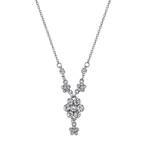 1928® Jewelry Crystal Flower Cluster Necklace