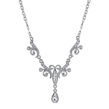 jcpenney.com | 1928® Jewelry Crystal Drop Silver-Tone Necklace