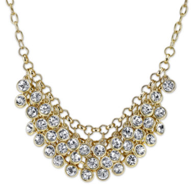 jcpenney.com | 1928® Jewelry Crystal Cluster Gold-Tone Bib Necklace