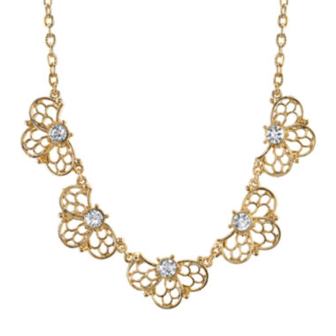 jcpenney.com | 1928® Jewelry Crystal Gold-Tone Filigree Necklace