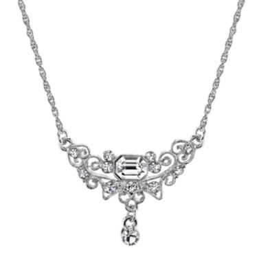 jcpenney.com | 1928® Jewelry Crystal Teardrop Silver-Tone Necklace
