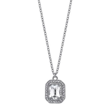 jcpenney.com | 1928® Jewelry Crystal Silver-Tone Drop Pendant Necklace