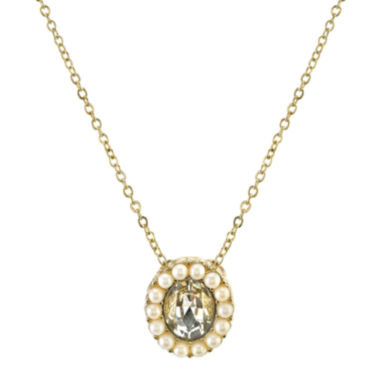 jcpenney.com | 1928® Jewelry Simulated Pearl and Crystal Drop Necklace