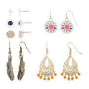 Arizona 6-pr. Two-Tone Earring Set