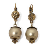Aris by Treska Gold-Tone Bead Drop Earrings