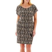 Alyx® Cap-Sleeve Belted Blouson Dress - Plus