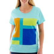 Stylus™ Short-Sleeve Slub Graphic T-Shirt - Plus