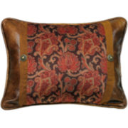 HiEnd Accents Austin Floral Oblong Decorative Pillow