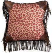 Austin Leopard Square Decorative Pillow