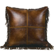 Austin Faux-Leather Square Decorative Pillow