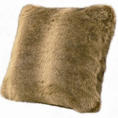 HiEnd Accents Briarcliff Wolf Faux-Fur Square Decorative Pillow