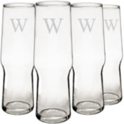 Cathy's Concepts Personalized Set of 4 Craft Beer Pilsners