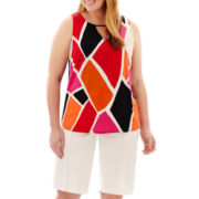 Worthington® Double V-Neck Halter Top or Career Shorts - Plus