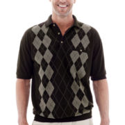 Palmland® Banded-Bottom Polo Shirt