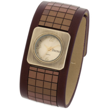 jcpenney.com | Decree® Womens Wide-Strap Tile Watch