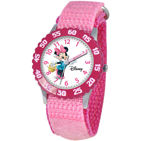 Disney Kids Time Teacher Minnie Pink Watch