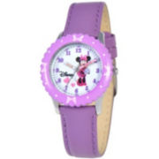 Disney Kids Time Teacher Minnie Leather Watch