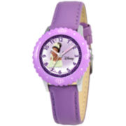 Disney Kids Time Teacher Tiana Leather Watch