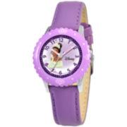 Disney Kids Time Teacher Tiana Leather Watch