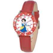 Disney Kids Time Teacher Snow White Leather Watch