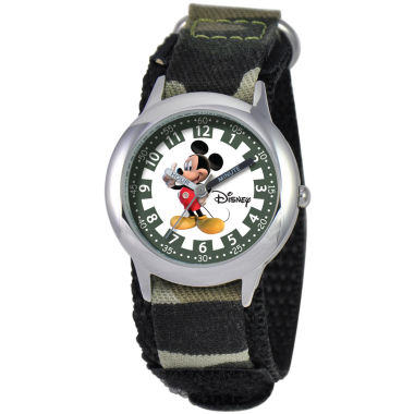 jcpenney.com | Disney Kids Time Teacher Camo Mickey Watch