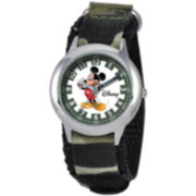 Disney Kids Time Teacher Camo Mickey Watch