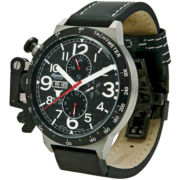Ingersoll® Bison 28 Automatic Black Leather Watch